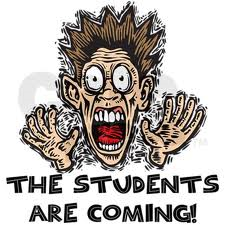 the students are coming