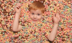 kid in cereal