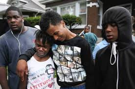 black family in mourning