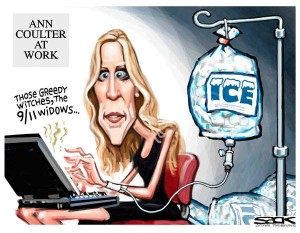 ann coulter caricature
