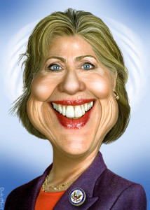 hilary-caricature